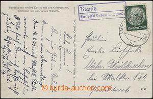 50790 - 1941 postal agency pmk KIANITZ/ über town Liebau, CDS town
