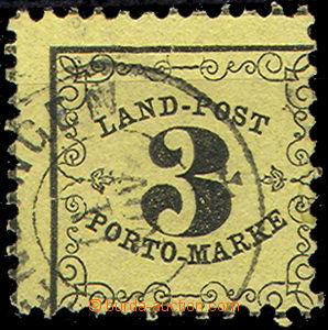 50791 - 1862 Mi.2x Landpost - Portomarken, torso CDS Kenzingen, off