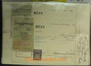 50814 - 1860-1942 FAKTURY  sestava 28ks celistvostí s fiskálními