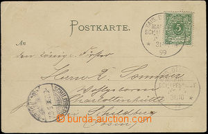 50833 - 1899 colour view card (S.M.Kreuzer Kaiserin Augusta) paid by