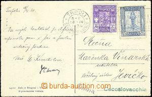 50882 - 1930 TRIPOLI  pohlednice zaslaná do ČSR, vyfr. zn. Mi.94 a