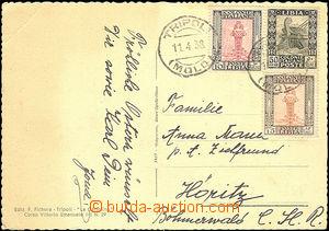 50883 - 1938 LIBYA  pohlednice zaslaná do ČSR, vyfr. koloniálním