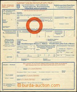 50917 - 1941 COF6 Telegrafická poštovní poukázka, nepřeložená