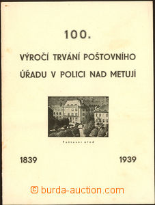 50919 - 1939 pamětní list ke 100. výročí pošty v Polici nad Me