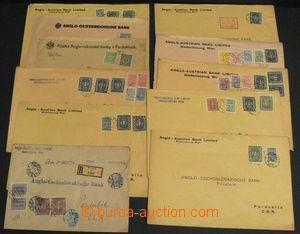 50929 - 1917-23 AUSTRIA  sestava 12ks bankovních R dopisů adresova