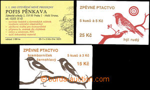 50944 - 1993-4 ZS26-27 Birds (stamps Pof.49-50), in addition unoffic
