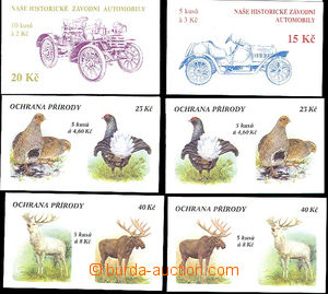 50945 - 1994-98 6 pcs of stamp-booklet,   ZS29-30 Historical Cars (s
