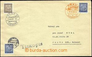 50955 - 1939 dopis jako tiskopis se třemi známkami Znak, každá z