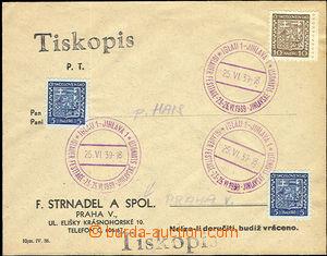 50956 - 1939 firemní obálka pražské firmy označená jako tiskop