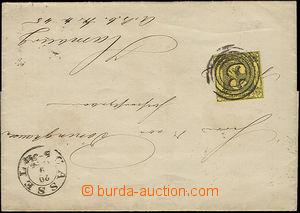 50991 - 1856 skládaný přebal dopisu vyfr. zn. Mi.6b, dobrý stři