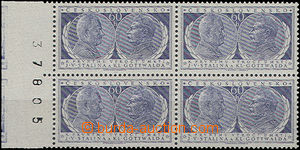 51048 - 1954 Pof.773, Anniv of Death, block of four with L margin an