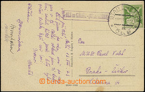 51057 - 1923 postcard with postal agency pmk BÍLÁ on/for M. (Star�
