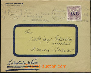 51059 - 1939 commercial letter franked with. forerunner stamp. CZECH