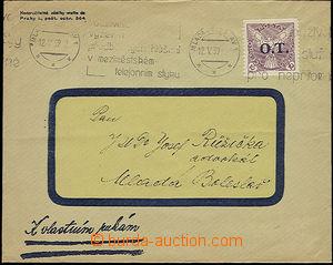 51059 - 1939 obchodní dopis vyfr. předběžnou zn. ČSR I. Pof.OT1 10h