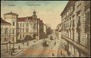 51063 - 1916 Troppau, Franz - Josef - Platz, barevná pohlednice ná