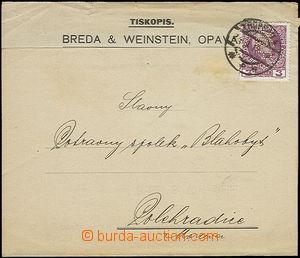 51074 - 1910 Breda & Weinstein, Opava, tiskopis vyfr. zn. Mi.141 s p