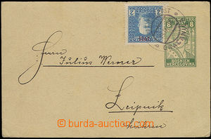 51077 - 1918 BuH  PC K.u.K.. Military Post Mi.P20 8(h) green, uprate