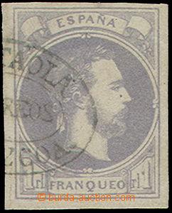 51088 - 1874 BASQUE Mi.2, grey-purple, mark on the back side, catalo