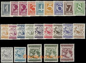 51103 - 1925 Mi.447-467 + 466b, výplatní zn., hodnota 1S i ve světle