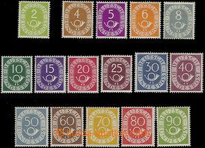 51108 - 1951 Mi.123-138, kat. 2500€, některé zn. drobné barevn�