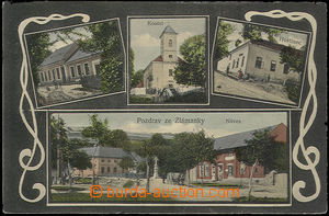 51113 - 1911 Zlámanka - 4-views, village square, pub, school, churc
