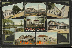 51117 - 1915 Velký Osek  - 8-views, railway-station, restaurant; Us