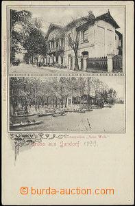 51118 - 1899 JUNDROV - restaurant Neue Welt (world) and boathouse; l
