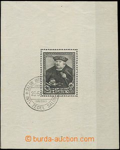51139 - 1935 Block 3, Mi.405 Salon Internationale, special cancellat