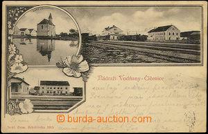 51144 - 1900 Číčenice - 3okénková, nádraží, nádražní restaurace, kap