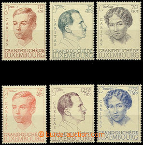 51161 - 1939 Mi.333-38 Caritas, complete set, fresh, catalogue 50€