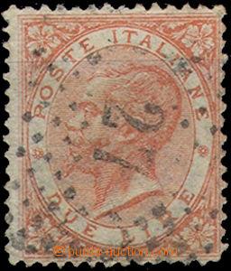 51163 - 1863 Mi.22 King Viktor, highest value, numeral cancel, light