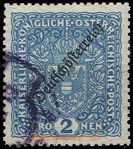 51224 - 1919 Mi.243B Coat of Arms, heavier postmark but small segmen