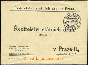 51234 - 1939 response letter Directory state tracks in Prague with C
