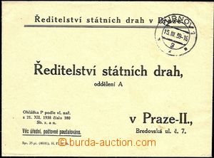 51235 - 1939 response letter Directory state tracks in Prague with C
