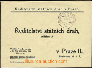 51238 - 1939 response letter Directory state tracks in Prague with r