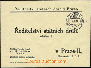 51251 - 1939 response letter Directory state tracks in Prague with r