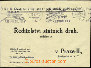 51255 - 1939 slogan pmk Dálnice bridge Republic Prague 14/ 15.III.3