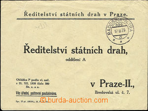 51256 - 1939 response letter Directory state tracks in Prague with r