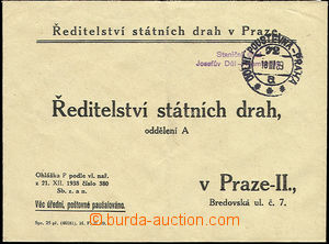 51282 - 1939 service letter State tracks with forerunner railway pmk