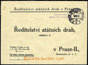 51283 - 1939 service letter State tracks with forerunner railway pmk