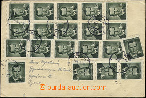 51319 - 1953 letter in the place franked with. 20-násobnou franking