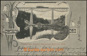 51327 - 1903 Mies (Stříbro), collage view of railway viaduct with