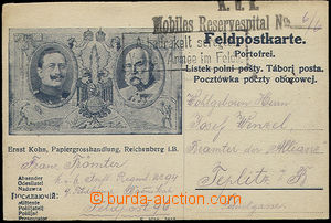 51338 - 1915 FP card with picture emperors William and Francis Josep