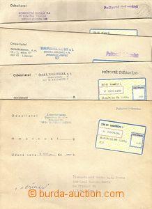 51343 - 1994 sestava 5ks cenných psaní s nálepkami I.typu - Haví