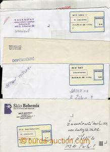 51345 - 1994 sestava 6ks dopisů s nálepkami I.typu - Č.Budějovic