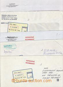 51347 - 1994 sestava 6ks dopisů s nálepkami I.typu různých praž