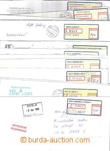 51349 - 1995-2005 comp. 15 pcs of letters with labels T II. - data a
