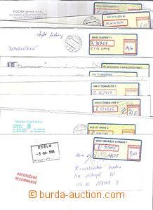 51349 - 1995-2005 sestava 15ks dopisů s nálepkami II.typu - údaje
