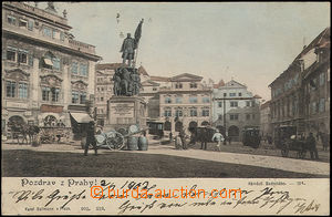 51376 - 1903 Prague, square. Radeckého, statue in the square, photo