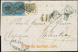 51384 - 1862 skládaný dopis zaslaný do španělské Valencie vyfr